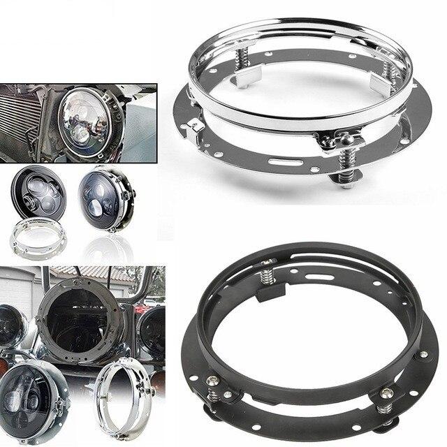 """7 אינץ עגול LED פנס הרכבה סוגר טבעת עבור רכב ג יפ רנגלר JK לנד רובר defender עבור הארלי אופנוע 7 """"סוגר"""