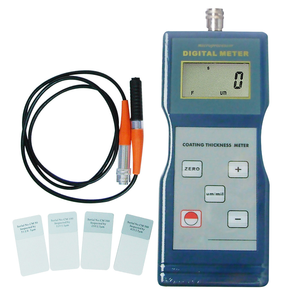 Coating Thickness Gauge F Type 0 1000um Measuring Range Magnetic Induction Paint Enamel Copper with Automatic Calibration