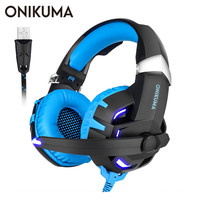 ONIKUMA K2 PC USB Stereo Gaming Headset casque 7.1 Channel Sound Wired Headphone with Microphone for Computer Laptop Gamer