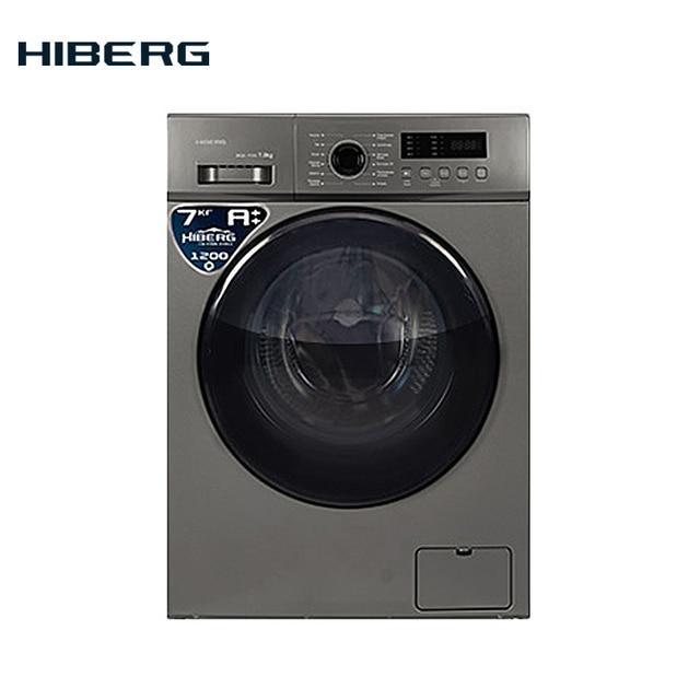 Стиральная машина HIBERG WQ2-712 S, 7 кг загрузки, 1200 оборотов при отжиме, 12 программ стирки, Класс А++, расход воды 48 л. на цикл