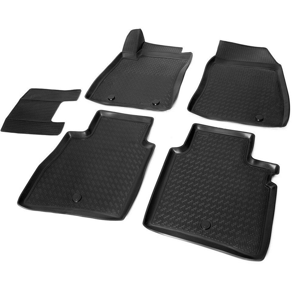 3D floor mats into saloon for Nissan Sentra 2015-2018 5 pcs/set (Rival 14106001) 3d floor mats into saloon for nissan x trail t32 2015 2019 5 pcs set rival 14109001