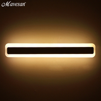 Modern LED Mirror Lights 38cm 53cm Wall Lamp Bathroom Bedroom Headboard Wall Sconce Lampe Deco Anti