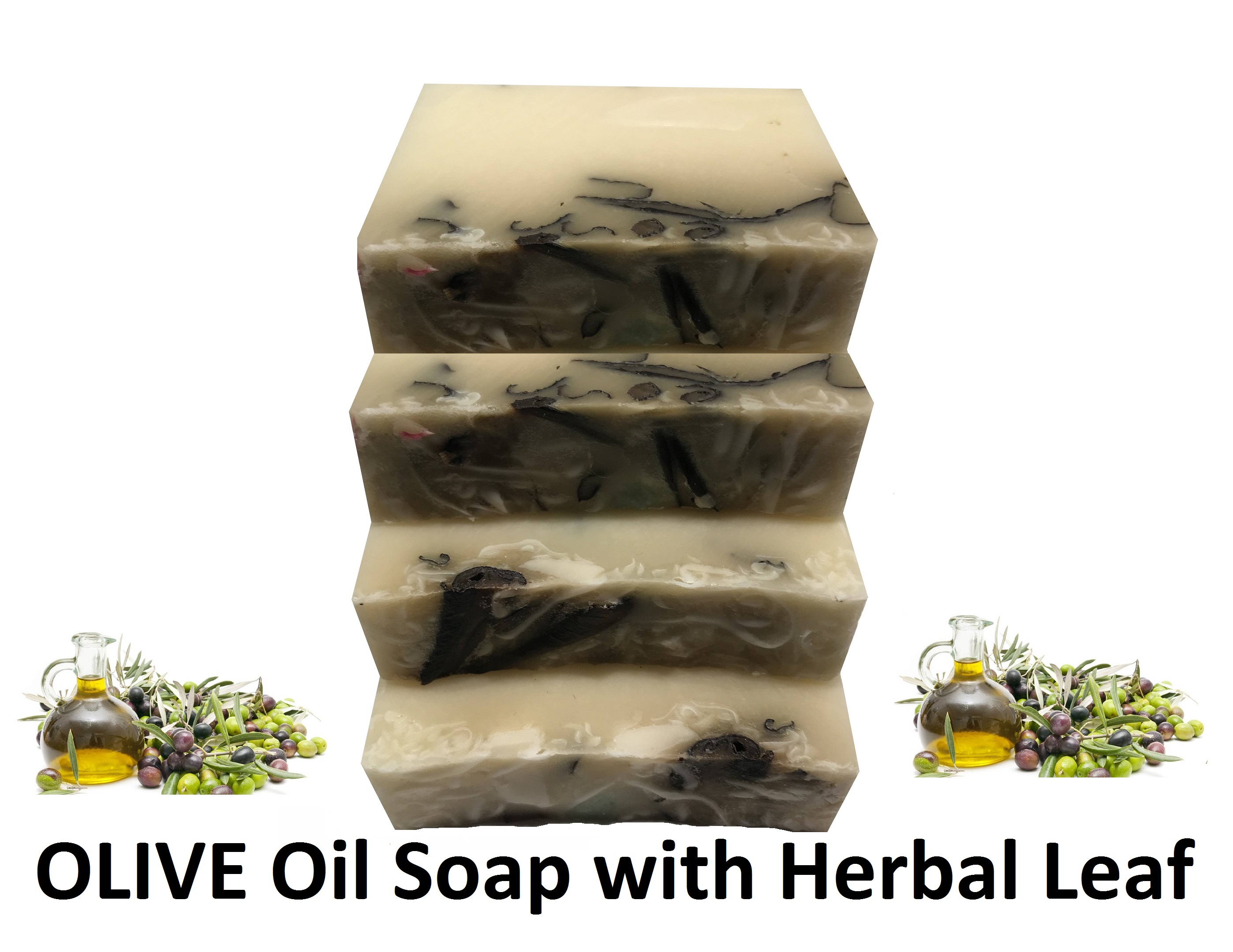 HANDMADE Cold Press OLIVE Oil Soap With Herbal Leaf Oleic Acid Skin Tone Moisturizer Effect 400gr