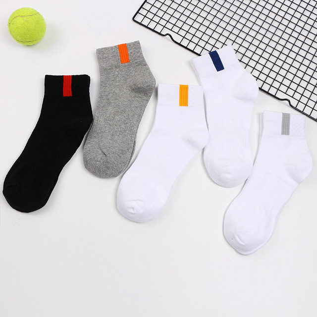 VERIDICAL 5 pairs/lot 100 cotton short socks for men compression weed socks Solid Professional boy,men happy socks werk sokken