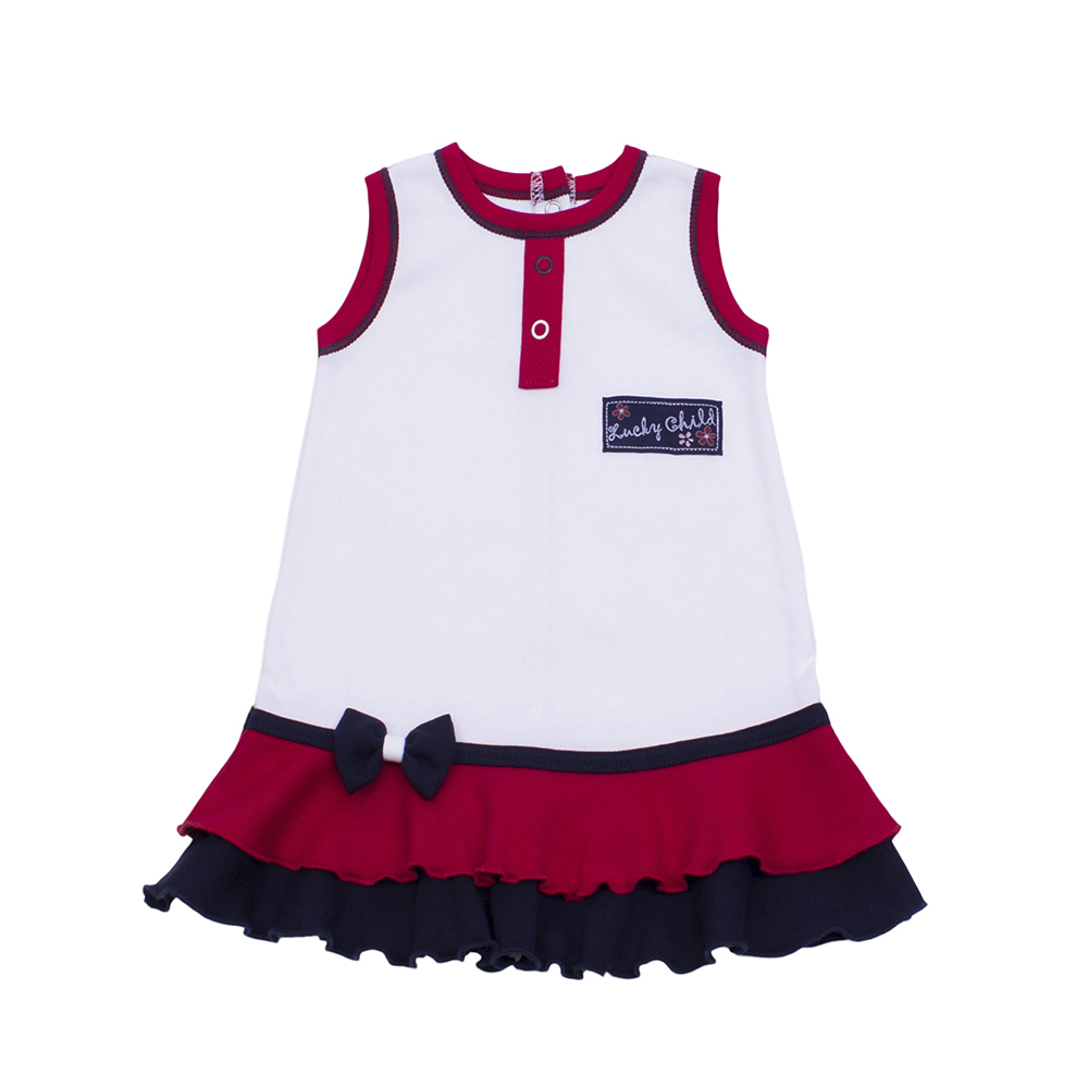 Dresses Lucky Child for girls 18-61 Dress Kids Sundress Baby clothing Children clothes zmj0255 winter spring summer autumn children clothing lace flower girl tutu princess dress girls dress