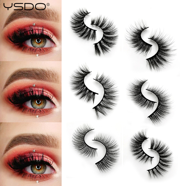 5 Pairs Mink EyeLashes 3D False Lashes winged Thick MakeupEyeLash Dramatic Lashes Natural Volume Soft Fake Eye Lashes g800 5