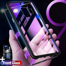 360 Magnetic Coque Metal Glass Case For Samsung Galaxy S8 Plus S8+ S9 S9Plus Note 8 9 Cover for