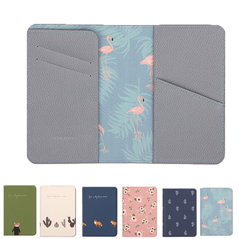 QEHIIE Passport cover Lovely printing Ms. passport holder Travel ID card holder 2018 PU card set travel passport set Organizer dedicated nice travel passport case id card cover holder protector organizer super quality card holder