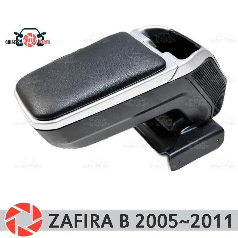 Reposabrazos para Opel Zafira B 2005 ~ 2011 brazo resto consola central de cuero caja de almacenamiento Cenicero Accesorios Estilo de coche m2