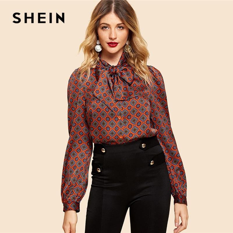 SHEIN Burgundy Long Sleeve Top