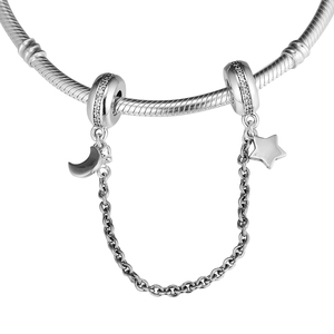 Image 5 - Fits Moments Bracelet Personal Galaxy Safety Chain Genuine 925 Sterling Silver Charms Beads for Women Jewelry Making kralen