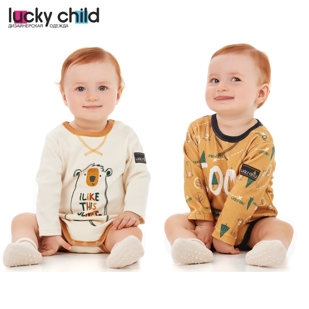 Bodysuits Lucky Child for boys 63-19 Winter holidays Body Newborns Baby Clothing Children clothes tank tops Christmas