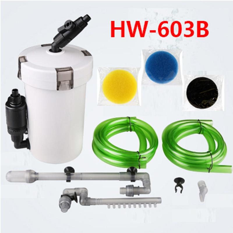 Sunsun Filtro de acuario ultra-silencioso Filtro externo de acuario cubo 110 V-220 V/6 W/HW-602 /HW-603/HW-602B/HW-603B