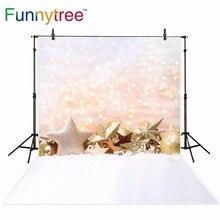 Funnytree backgrounds for photography studio Christmas decoration stars halo bokeh backdrop photobooth photocall printed