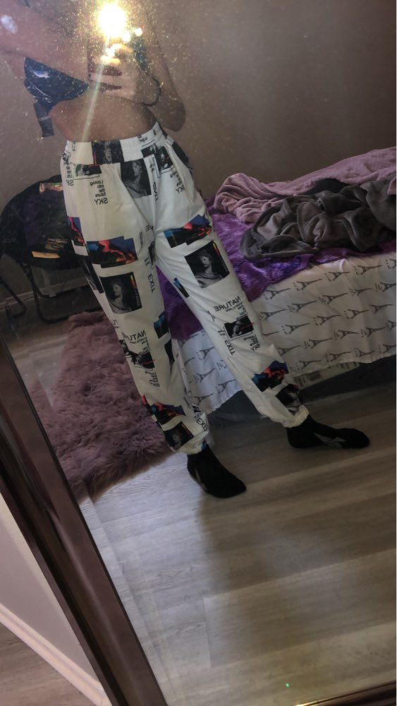 Gothic Streetwear Pants Women Illstration 3D Print High Waist Jogger Pants Pockets Womens Plus Size Fashions Trousers photo review
