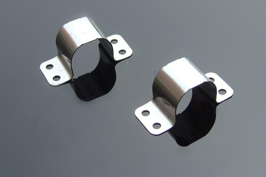 304 SS Fixed Ball Stud Angle Mounting Bracket 14 Gauge 10mm