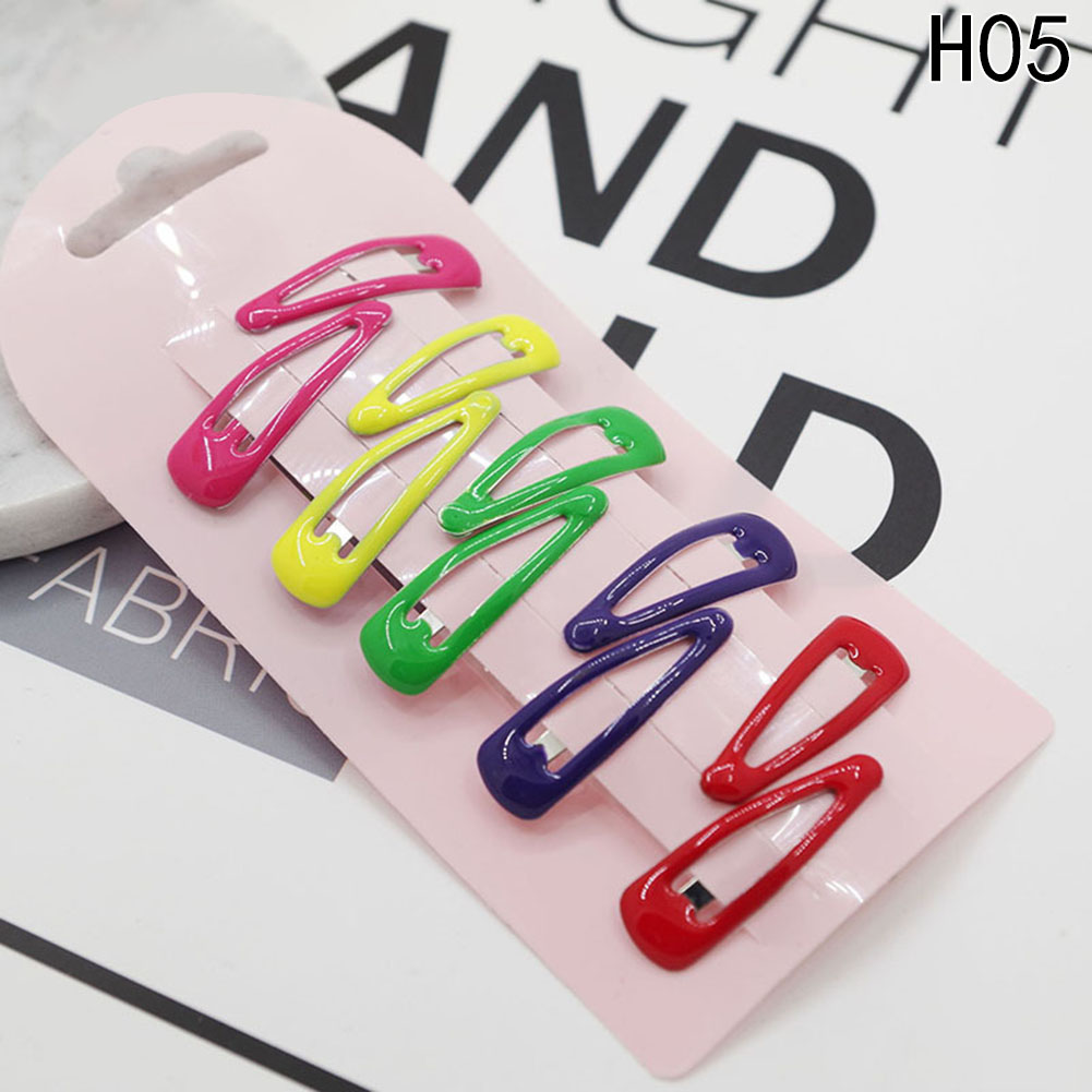 5 Pairs/set Cute Headwear Candy Color Paint Hair Clips Girls Baking Paint Hairpin Barrette Multi Hair Accessories
