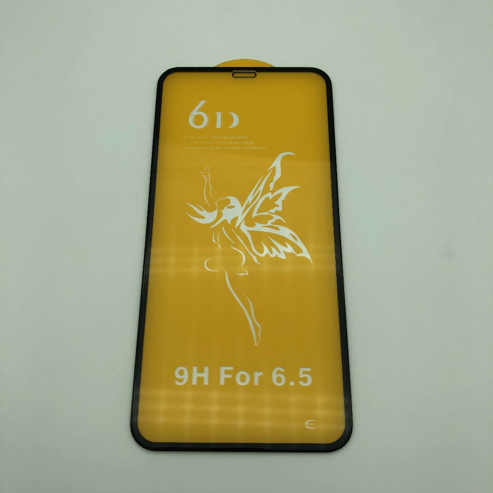 2pcs 6D Cold carved full screen tempered film/<font><b>glass</b></font> for phone XS Max//XS/<font><b>X</b></font>/8/7 LCD touch screen easy laminating film <font><b>repair</b></font> image