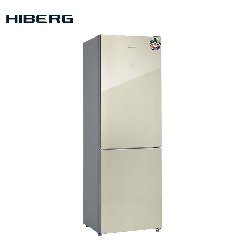refrigerator with no frost system hiberg rfc 332d nfw Refrigerator with glass door and no frost system HIBERG RFC-311NFGH
