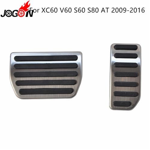 Для Volvo XC60 S60 V60 S80 XC90 S90 V90 XC40 V40 S40 C30 газовый топливный ускоритель сцепления педаль тормоза Накладка на MT - Название цвета: 09-17 XC60 AT