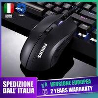 Mouse Gaming Philips SPK9313 2400DPI 6 tasti Ambiglow Design ergonomico Spedizione rapida dall'Italia