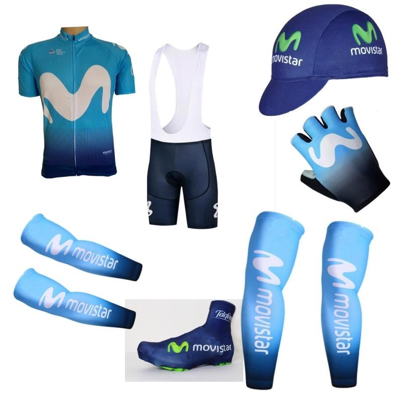 2018 nuovo uci pro team 7 pz set completo ciclismo kit jersey Breve manica quickdry bike MTB abbigliamento Ropa ciclismo bicicletta maillot GEL
