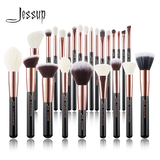 96b997a5a8c7 US $7.41 15% OFF|Jessup Rose Gold / Black Makeup brushes set Beauty  Foundation Powder Eyeshadow Make up Brush  6pcs/8pcs/10pcs/15pcs/20pcs/25pcs-in Eye ...