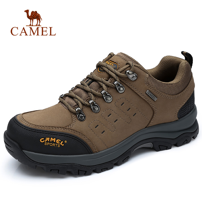 CAMEL Men Women Hiking Shoes Cow Leather Upper 2019 Autumn Durable Anti Slip Warm Outdoor Mountain