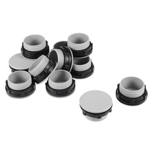 UXCELL 12 Pcs 30mm Black Gray Plastic Push Button Switch Hole Panel Plug Home Improvement Electrical Equipment Supplies
