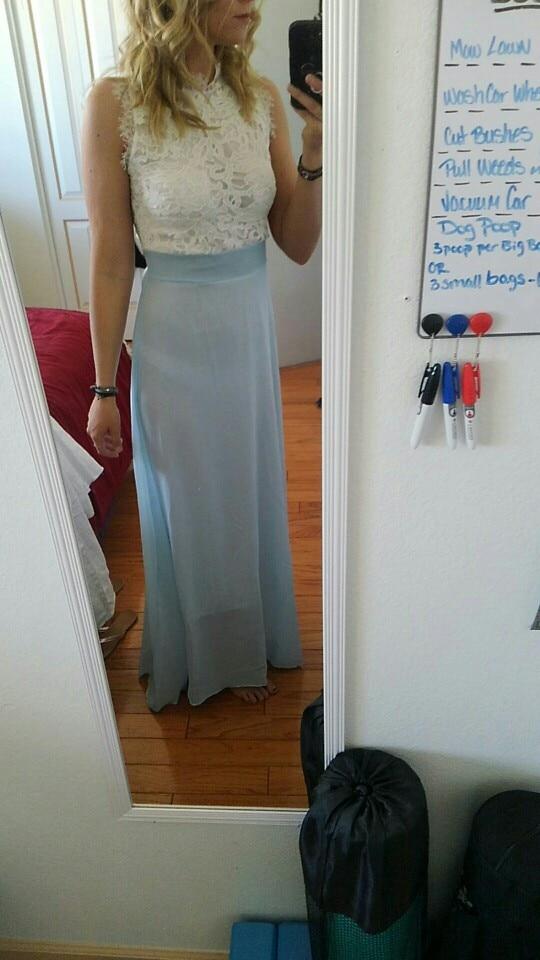 Us 2-14 Summer Chiffon Long Dress