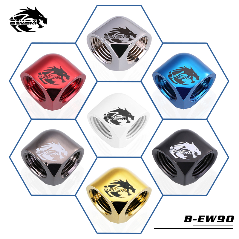Bykski B EW90 90 Degree Elbow Connector G1/4 Dual Female Water Cooling Fitting-in Fans & Cooling from Computer & Office