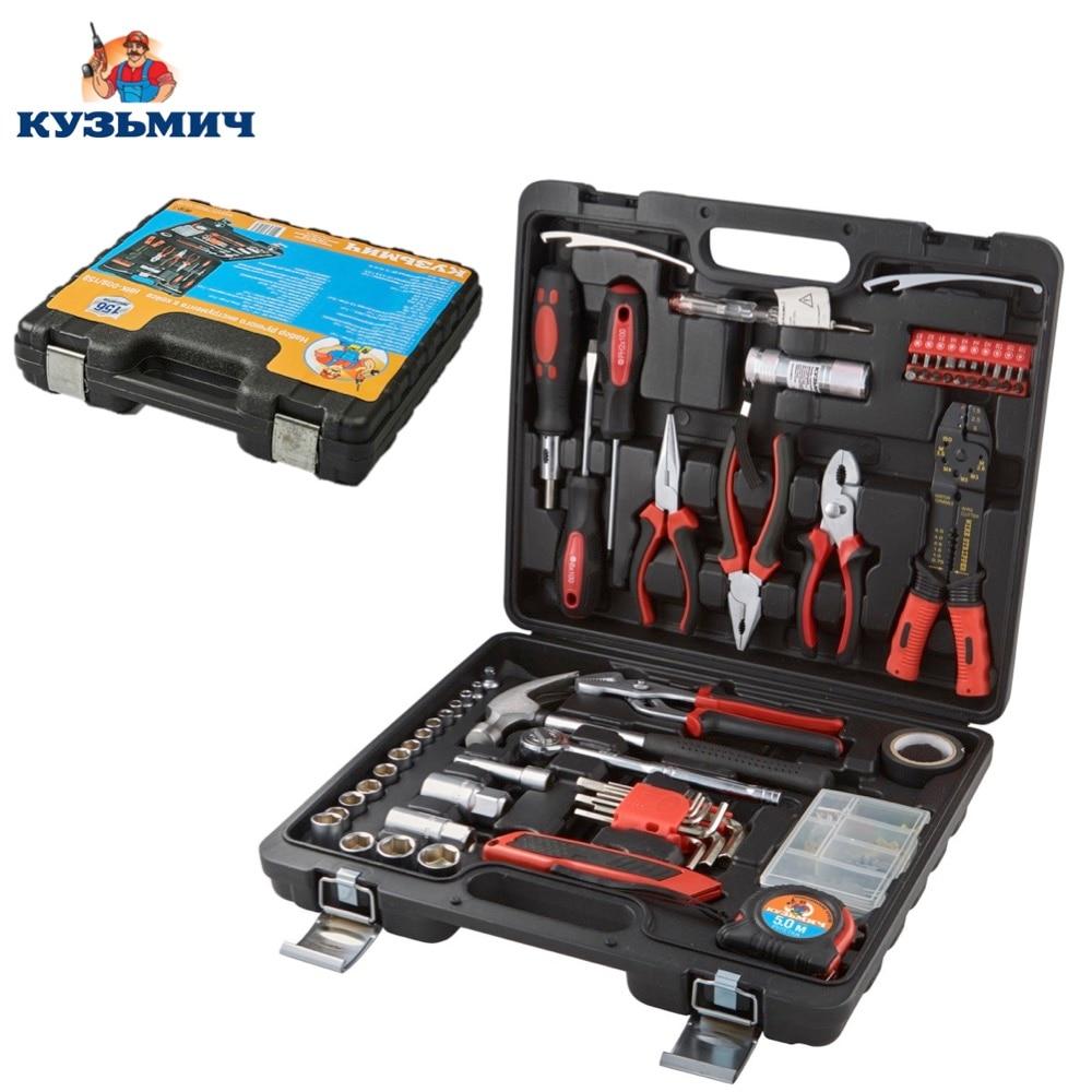 Hand Tool Sets Kuzmich NIK-009/158 screwdrivers wrench set keys key heads for auto household repair tools kit
