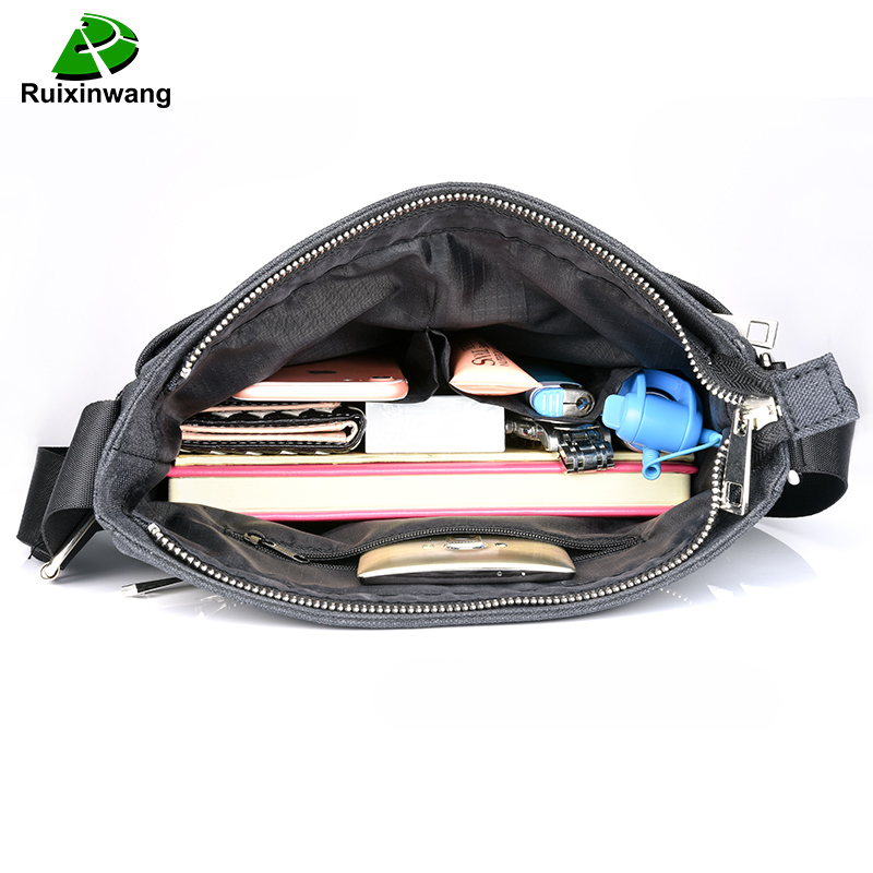 Ruixinwang Casual Crossbody Bag Business Mens Handbags Male Messenger Bags Nylon Women Handbags Small Briefcase