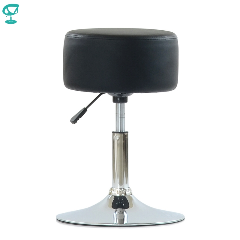 N131CrPuBlack Barneo N 131 Leather Kitchen Breakfast Bar Stool Swivel Bar Chair black color free shipping in Russia|Bar Stools| |  -