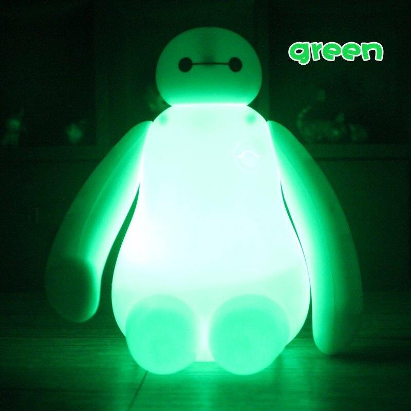 USB charging color change RGB mini cartoon hero 6 cartoon BayMax LED night light children gifts home decor bedroom bedside lamp