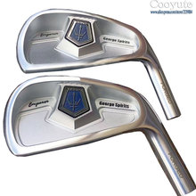 New mens Cooyute Golf heads George spirits Grand Empero White irons set 4-10 Club no shaft Free shipping