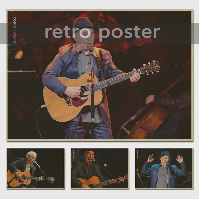 Paul Simon Music Class Propaganda Vintage Kraft Decorative Poster ...