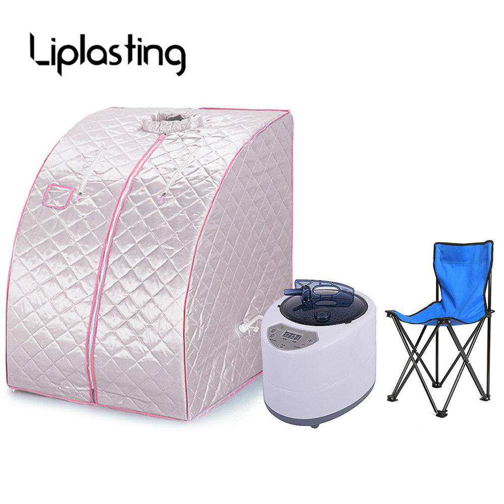 Liplasting Portable Folding Steam Sauna Box Far Infrared Negative Ion Detox Infrared Home Spa Weight Loss Calories Burned HWC