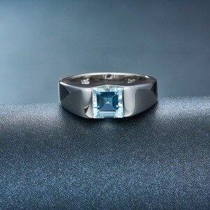 Image 4 - Lp Topaz Princess Cut 1.34 Karaat Vrouwen Ring Massief Zilver 925 Natuurlijke Edelsteen Ring Fijne Sieraden Anillos Plata 925 para Mujer