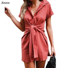 2018 Summer Women Fake Sleeve Lace up Long Shirt Sexy Turn Down Collar Short Sleeve Tunick Tops Blouse Femme Casual Solid Shirts girls plaid blouse 2019 spring autumn turn down collar teenager shirts cotton shirts casual clothes child kids long sleeve 4 13t