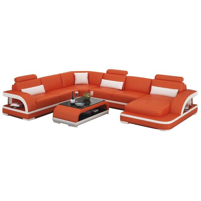 U shape Comfortable living room sofa set