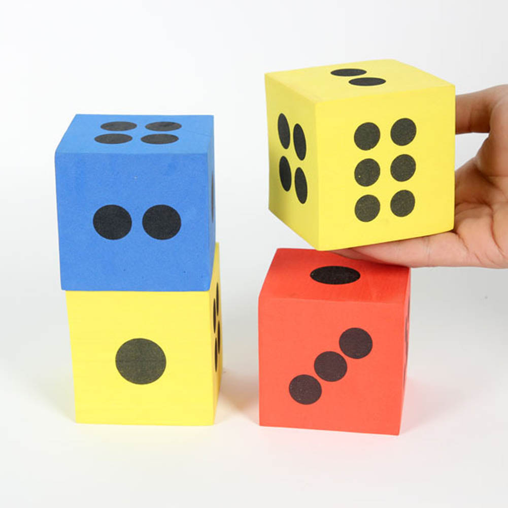 12 pcs/set Combination Of Eva Foam Dice Blocks Children Toys Educational Pop for Game Gaming Children Adult Gift Cubes