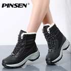 PINSEN Winter Boots Women New Arrival Fashion Brand Female Snow Boots Classic Mujer Botas Waterproof Boots For Women Size 35-41