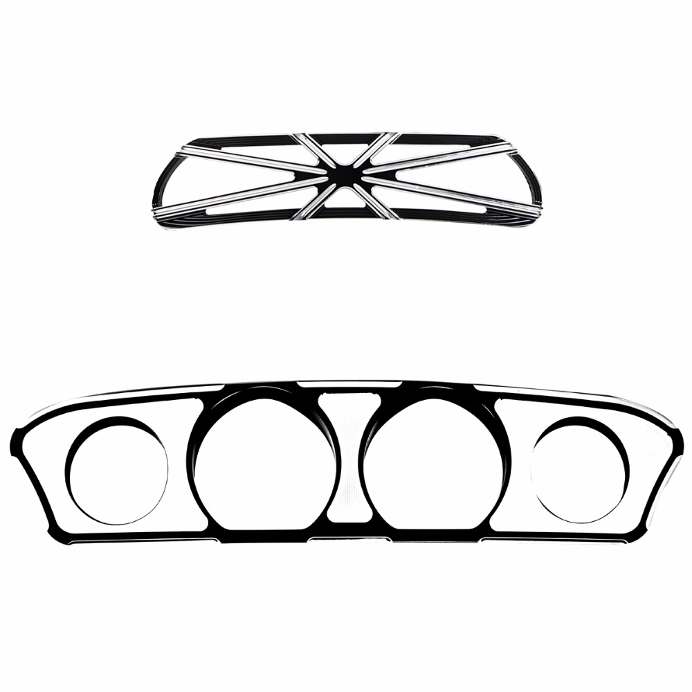 цена на Grill Collection Inner Fairing Dash Trim&Fairing Scoop Intake Trim Accent For Harley Touring Street Glide FLHX Batwing 14-18