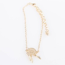 European And American Style Gold Color Hollow-out Lucky Dreamcatcher Bracelet Jewelry Wholesale
