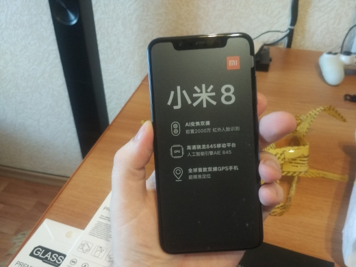 "Orinigal Global Firmware Xiaomi Mi 8 Snapdragon 845 6GB RAM 64GB ROM Octa Core 6.21"" 2148x1080P  Mobile Phone Support OTA"