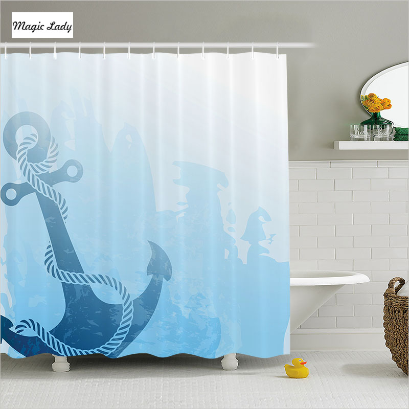 Shower curtain anchor bathroom accessories digital for Navy bath accessories
