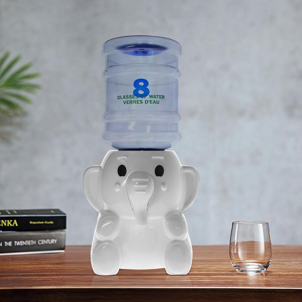 2.5 litres capacité pour un jour éléphant Mini distributeur D'eau 8 Verres D'eau Verres D'eau enfant chambre Animal bureau décoration