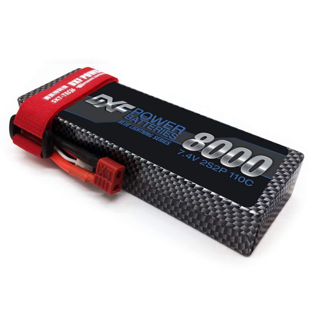DXF 2S 7,4 V 8000mAh 110C Max220C Lipo batería RC partes con enchufe T cómodo para TRX 1/10 coche Drone helicóptero barco FPV 2500 mAh 7,4 v batería lipo para Syma x8c X8G X8W X8G X8HC X8HW X8HG para RC Quodcopter piezas 7,4 batería de repuesto de batería v