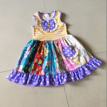 Cute feature Christmas and Fall 100%cotton Smart Casual Clothing Infants Boutique Baby Girl Dresses Apparel Accessory